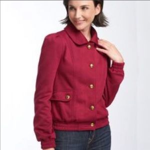 Anthropologie Nick & Mo Quilted Knit Bomber Jacket